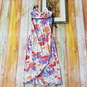 Anthro Mermaid Seashell Knit Wrap Midi Dress XS